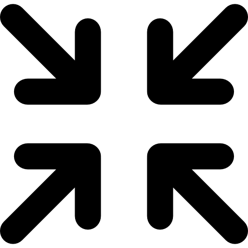 Minimize arrows  free icon