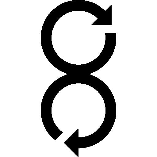 flèches tournant dans des directions opposées  Icône gratuit