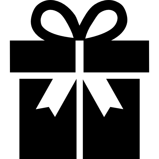 Gift box with a ribbon  free icon