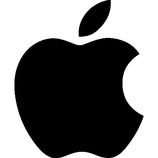 Apple logo  free icon