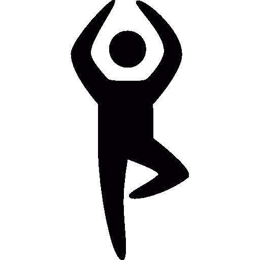 Yoga position  free icon