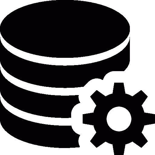 configuración de la base de datos  icono gratis