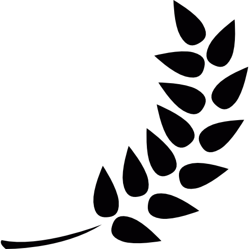Branch with leaves  free icon