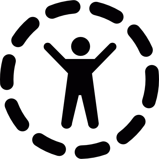 Person with arms outstretched  free icon