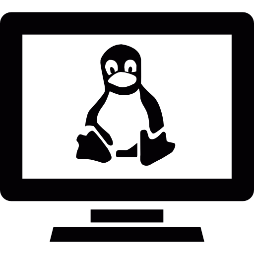 Linux computer  free icon