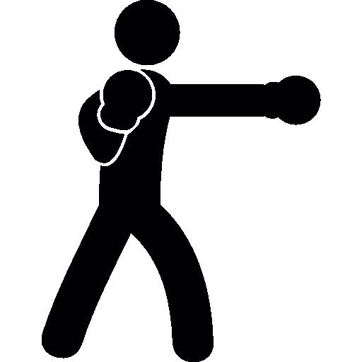 Человек бокс  бесплатно иконка