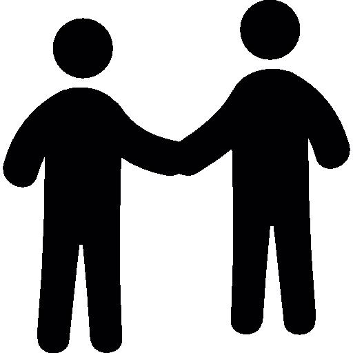 Men Shaking Hands  free icon