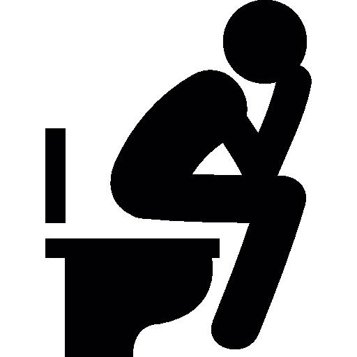Man sitting in the bathroom  free icon