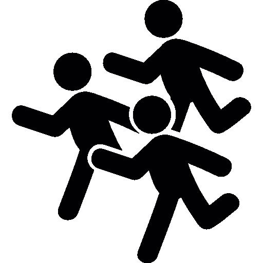 grupo de homens correndo  grátis ícone