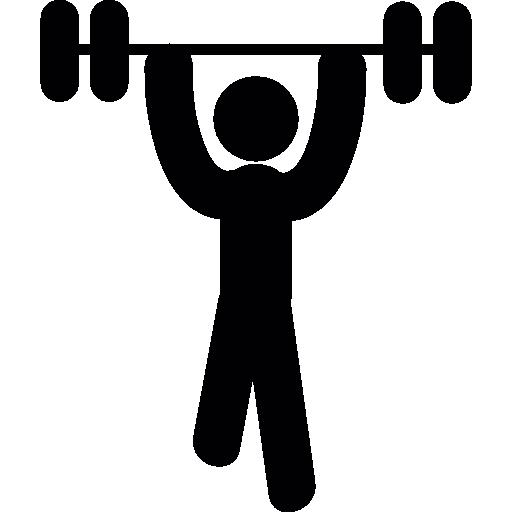 homem levantando peso  grátis ícone