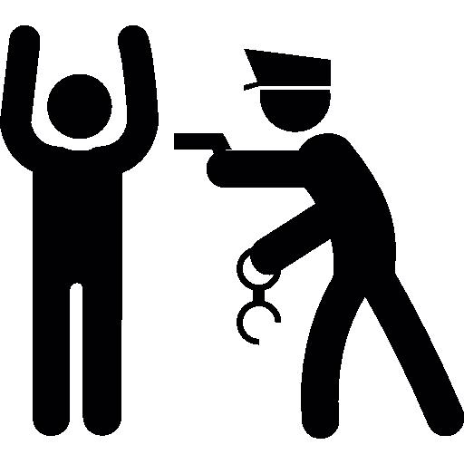 Police arresting man  free icon