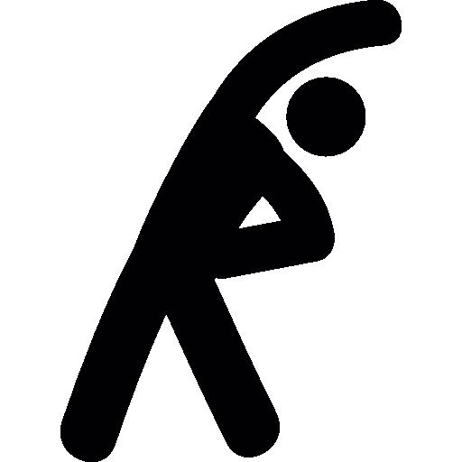 ejercicios de estiramiento  icono gratis