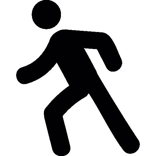 Man walking  free icon