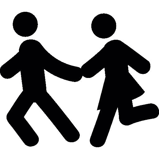 Couple Running  free icon