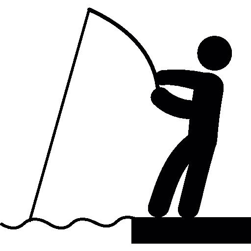 angelrute und fischer  kostenlos Icon