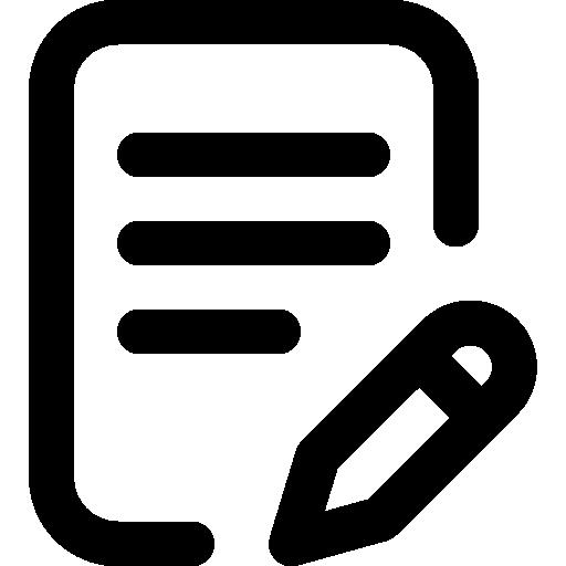 escritura  icono gratis