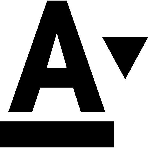 Параметры шрифта  бесплатно иконка