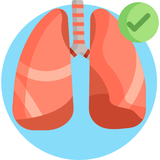 Lung  free icon
