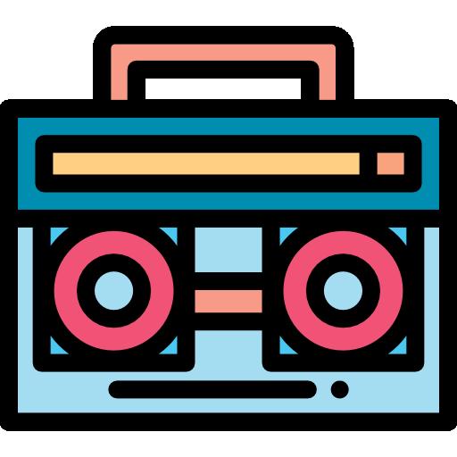 cassette radio  Icône gratuit