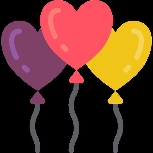 ballon coeur  Icône gratuit