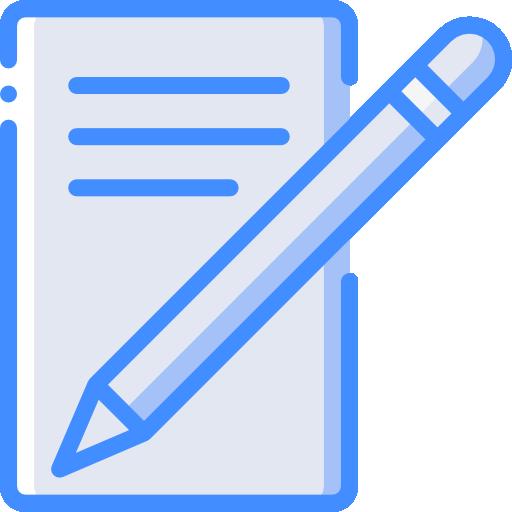 escribir carta  icono gratis