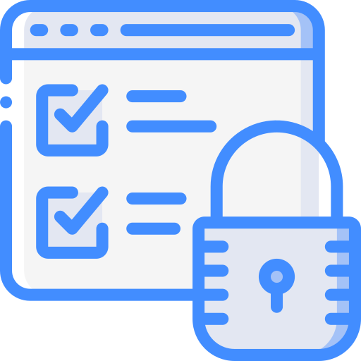 Secure data  free icon