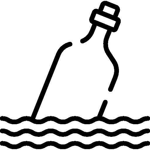 mensaje en una botella  icono gratis