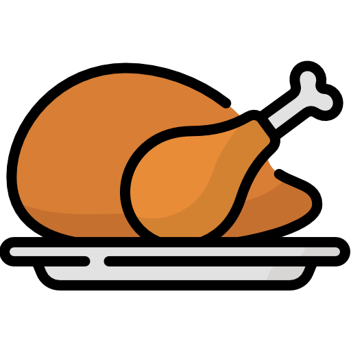 Chicken leg  free icon