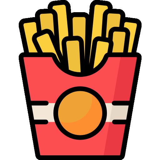 Fried potatoes  free icon