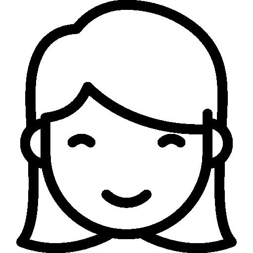 Smiling Girl  free icon