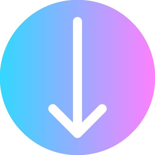 Flecha hacia abajo - Iconos gratis de flechas