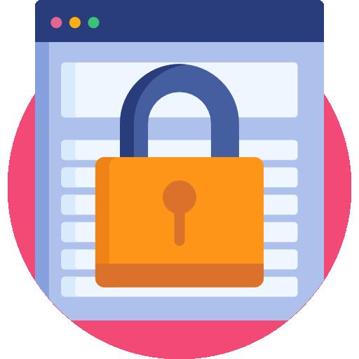 웹 보안  무료 아이콘