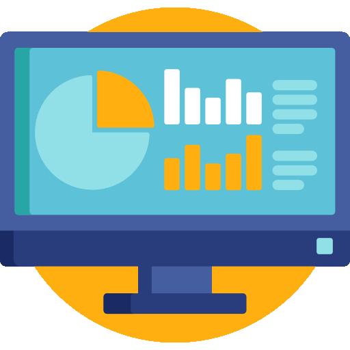 웹 분석  무료 아이콘