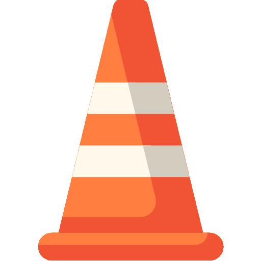 Traffic cone  free icon
