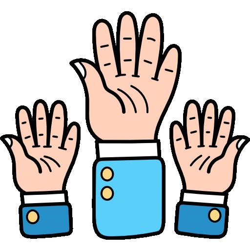 Поднять руку  бесплатно иконка