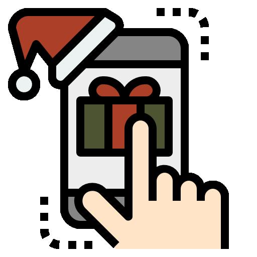regalo de navidad  icono gratis