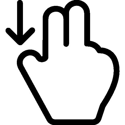 Swipe Down  free icon