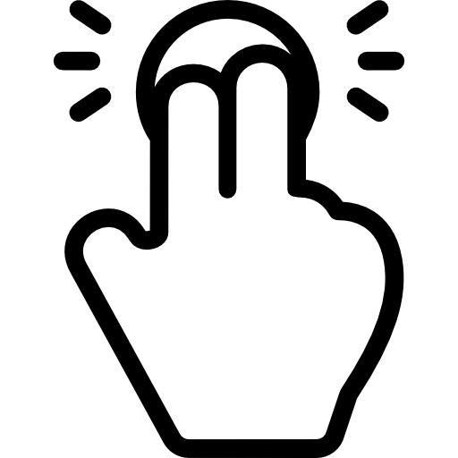 Tap with Two Fingers  free icon