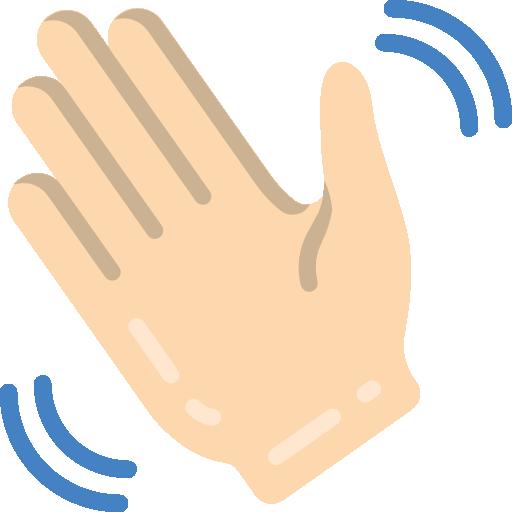Waving hand  free icon