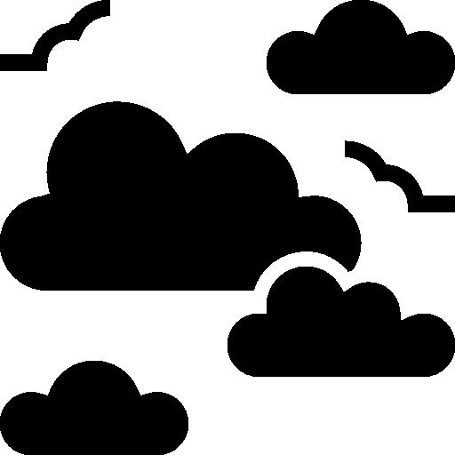 nuageux  Icône gratuit