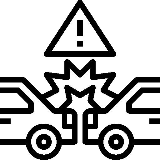 Accident  free icon