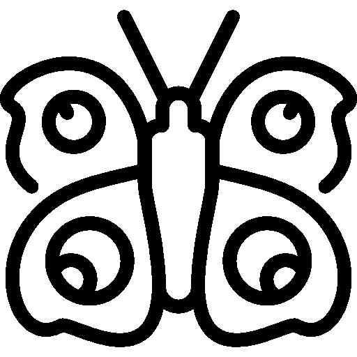 papillon paon  Icône gratuit