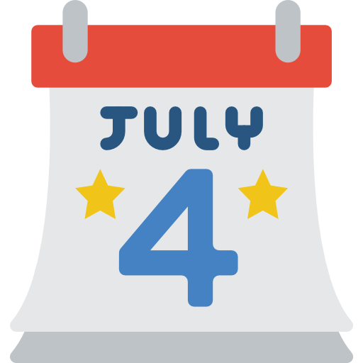 4 juillet  Icône gratuit