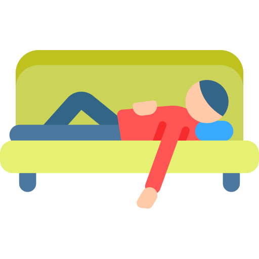 Relaxing  free icon