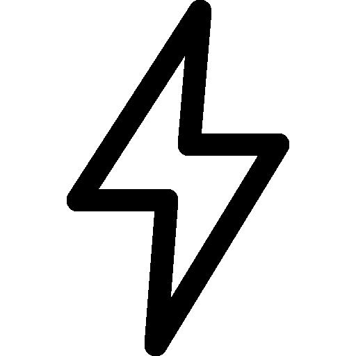 Light bolt  free icon