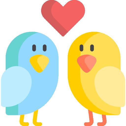 oiseau d'amour  Icône gratuit