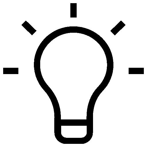 Лампочка  бесплатно иконка