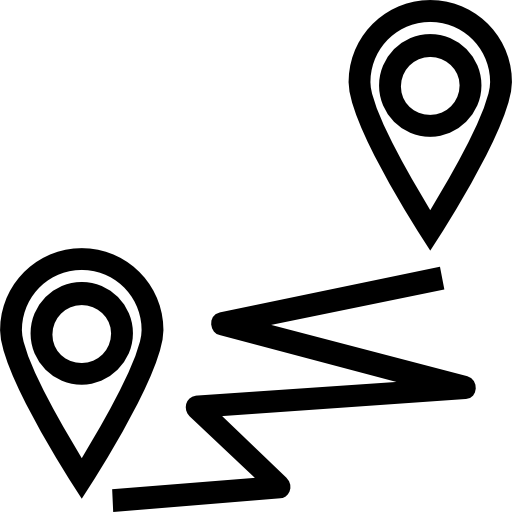 Distance  free icon