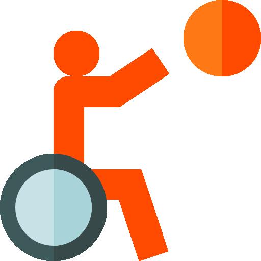 basketball en fauteuil roulant  Icône gratuit