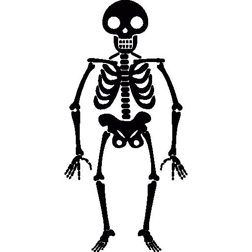 Smiling skeleton  free icon